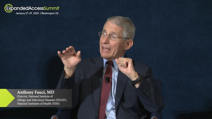 Dr. Anthony Fauci at the 2020 Expanded Access Summit