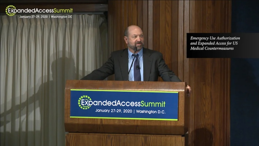 2020 Expanded Access Summit: Emergency Use Authorization and Expanded Access speech