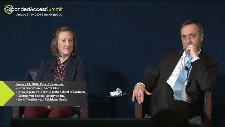 Chris Beardmore at the 2020 Expanded Access Summit