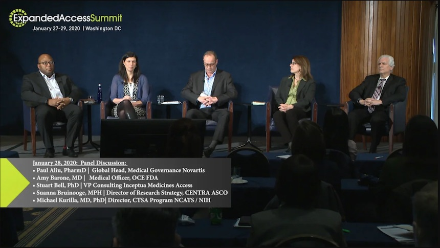2020 Expanded Access Summit: Integration of Research & Treatment panel
