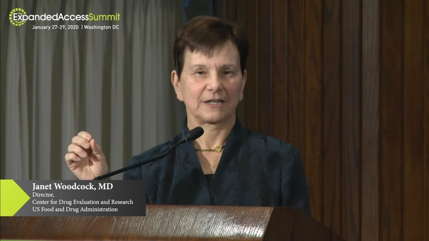 Janet Woodcock MD Speech at Expanded Access Summit 2020