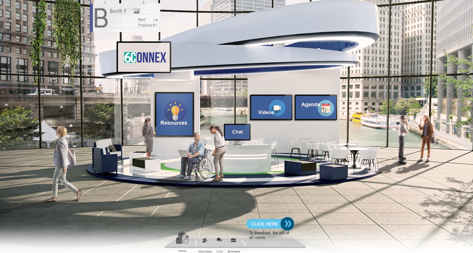 3D Exhibit Booth in Ax-S Pharma Expo Hall